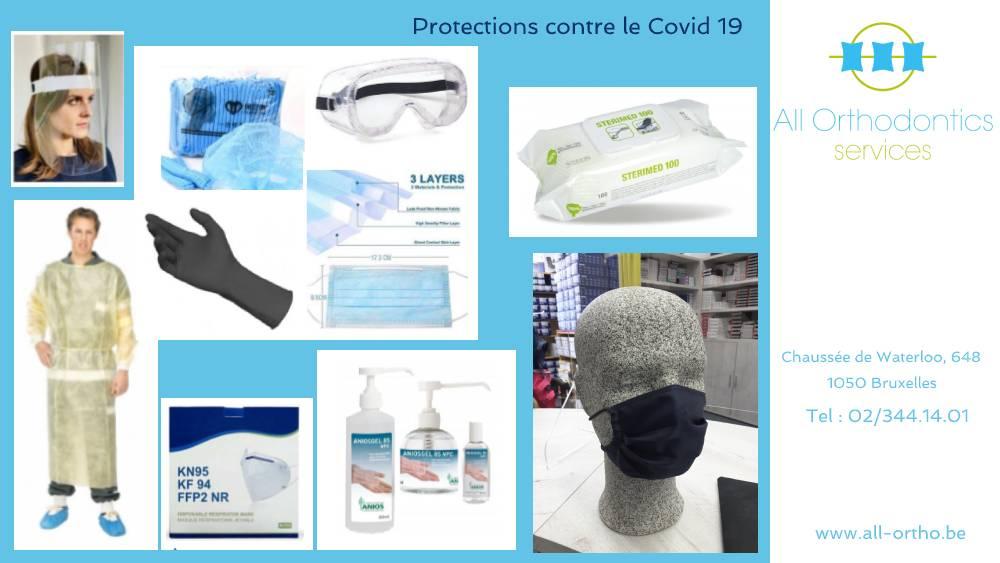 All Ortho les équipements de protections contre le Covid 19